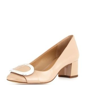 Michael Kors Pauline Nude Patent Pump NEW IN BOX